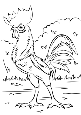 heihei-rooster-from-moana-coloring-page