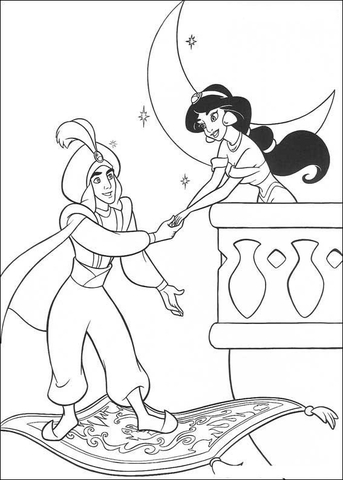 jasmine-and-aladdin-coloring-page