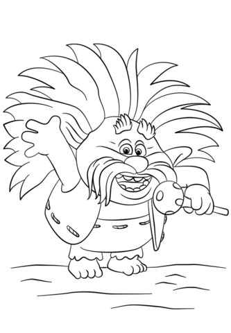 king-peppy-from-trolls-coloring-page